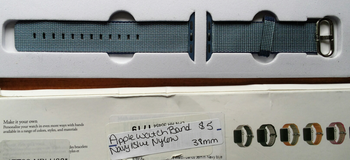 Apple Watch band Navy Blue Nylon 38mm in Fort Campbell, Kentucky