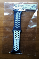 Apple Watch band Navy Blue and white sport silicone M/L 38mm in Fort Campbell, Kentucky