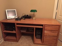 Oak computer desk in Spring, Texas