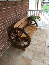 Rustic Wagon Wheel Bench in Fort Belvoir, Virginia