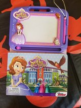 Sofia the first etch a sketch with drawing book in Fort Drum, New York