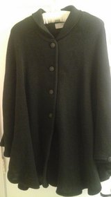 Black Knit Cape Jacket Size Large-NEW! in Joliet, Illinois