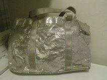 Sparkly Silver Zippered Carry-All Bag With 2 Handles in Naperville, Illinois