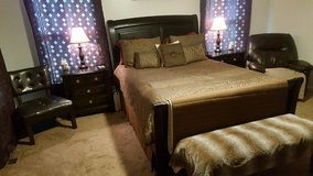 Ashley Queen sleigh bed and mattress set in Fort Lee, Virginia