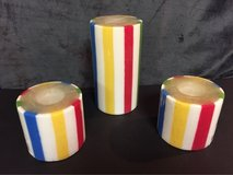 Striped Pillar Candles in Aurora, Illinois