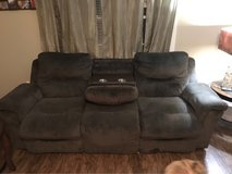Brown microfiber couch in Moody AFB, Georgia