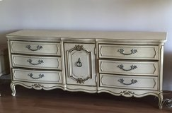 Thomasville French Provincial Dresser, Mirror & Full Headboard in Westmont, Illinois