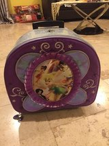 Like New Disney Store Tinkerbell Rolling Luggage Suitcase Bag in Morris, Illinois