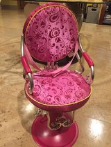 """Beauty Salon Shop Chair Battat fits 18"""" American Girl doll Our Generation Hot Pink in Morris, Illinois"""