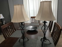 Two lamps with lamp shades in Shorewood, Illinois