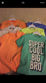 6 Carters boys shirt size 7 NeW in Joliet, Illinois