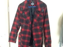 Plaid Women's Trench Coat in Ramstein, Germany