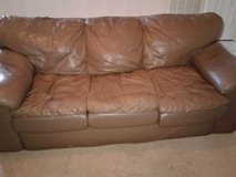 Brown Leather Couch in Fort Campbell, Kentucky
