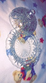 Antique glass dish with lid in Fort Leonard Wood, Missouri