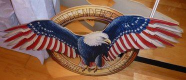 The American Eagle by Dag Peterson 1982 HANDMADE SIGN in Wiesbaden, GE