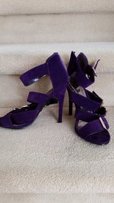 Women's, summer, sandals. For the party. Heel height 14 cm. Four belts with fasteners - adjustable. in Tacoma, Washington