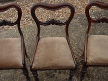 CHAIRS X 3 WOOD WITH REMOVABLE BASE in Lakenheath, UK