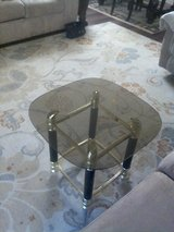 Glass end table in Vacaville, California