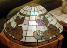 Tiffany- Style Iridescent Lamp Shade in Morris, Illinois