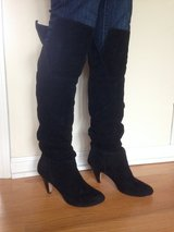 "Black suede knee high boots. 3"" heels. in Algonquin, Illinois"