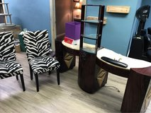 spa nail table with dryers, and two chairs in MacDill AFB, FL