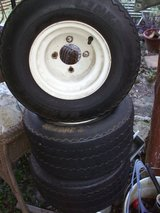 GOLF CART TIRES & WHEELS (3) in Perry, Georgia