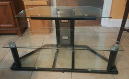 Glass TV stand in Beaufort, South Carolina