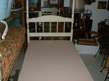 Canopy poster bed and box spring. in Tinley Park, Illinois