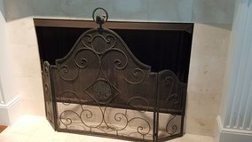 Scroll Fireplace Screen w/Bird Finial in Beaufort, South Carolina