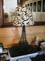 Art deco Eifel Tower lamp with a beautifully designed lamp shade in Yucca Valley, California