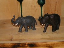 4 Beautiful Elephants with their trunks pointing upward meaning good luck and prosperity in Yucca Valley, California