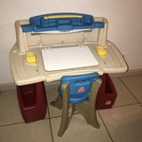 Step 2 Deluxe Art Desk w/ Chair and Light Cute! in Travis AFB, California