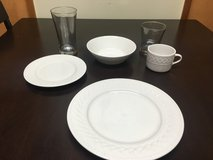 Dishes and glasses set in Okinawa, Japan