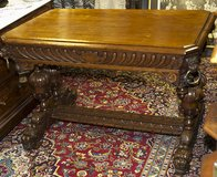 ANTIQUE FRENCH CARVED RENAISSANCE DOLPHIN  TABLE WRITING DESK 1870 in Ramstein, Germany