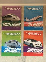 Set of 4 Picture Books about Fast Vehicles (Boats, Trains, Cars & Planes) in Bolingbrook, Illinois