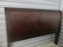 Ashley Sleigh Bed King Size with wood rails, Reduced! in Kingwood, Texas