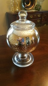 Gold decorative glass dish in Plainfield, Illinois