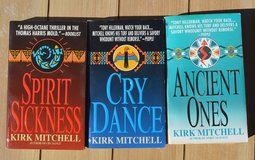 Kirk Mitchell paperback suspense mysteries in Alamogordo, New Mexico