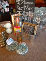 wedding decorations/ vases/mercury glass/chalk board/reception decor in Shorewood, Illinois