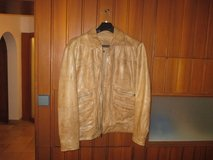 Tan Leather Jacket (Like New) in Stuttgart, GE