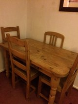 Large and very heavy farmhouse kitchen table in Cambridge, UK