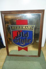 vintage Heileman's Old Style Beer sign mirror in Fort Campbell, Kentucky