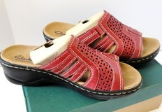 Leather Sandals Ladies 9.5 by CLARK in Conroe, Texas