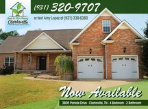 Rent to Own Home Coming Soon--3805 Parade Drive in Clarksville, Tennessee