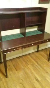 Cherry Wood Table Desk and Hutch in Warner Robins, Georgia