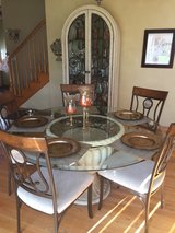 "60"" Glass Dinette w/ Matching Curio in New Lenox, Illinois"