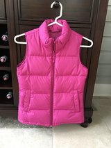 Girls Deep Pink Lands End Down Vest - Size S (7-8) in Chicago, Illinois