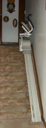 "Bruno Stair Lift - 75"" track in Yorkville, Illinois"
