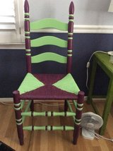 Painted chair 2 colors, rush seat in Fairfax, Virginia