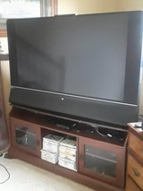 """HP 58"""" DLP TV and stand in Bartlett, Illinois"""